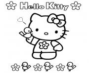 hello kitty facile dessin à colorier