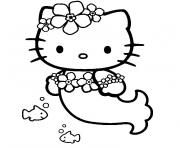 Coloriage hello kitty et pucca dessin