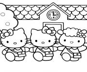 hello kitty et ses amis dessin à colorier