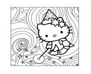 hello kitty magique dessin à colorier