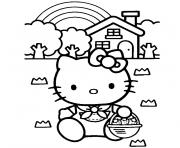 tv hello kitty dessin à colorier
