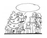 de noel en famille dessin à colorier