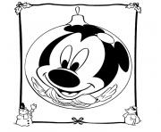 Coloriage de noel disney mickey