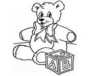 de noel ourson dessin à colorier