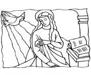 de noel religieux dessin à colorier