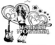 de noel hannah montana dessin à colorier