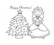 noel princesse dessin à colorier
