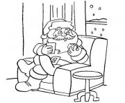 Coloriage pere noel tv