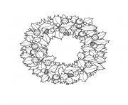 de noel couronne dessin à colorier