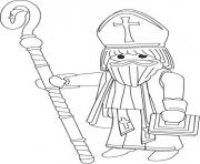 Coloriage playmobil pere noel