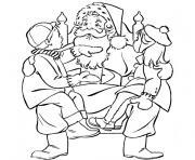 Coloriage pere noel maternelle