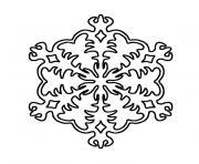 noel neige dessin à colorier