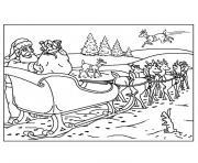 de noel rennes dessin à colorier