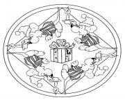 mandala noel dessin à colorier