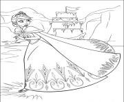 Coloriage royaume arendelle dessin