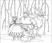 Coloriage royaume arendelle