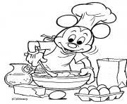 Mickey cuisine dessin à colorier