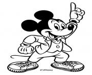 Coloriage Mickey danse