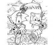 Coloriage sonic tails