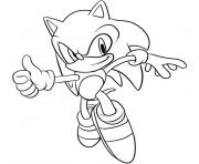 Coloriage sonic the hedgehog