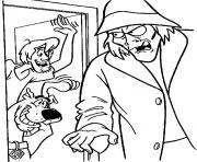 Scoubidou Sammy et un mechant dessin à colorier