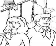 Daphne et Fred dessin à colorier