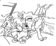 La bande a Scoubidou se promene dessin à colorier