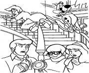 Sammy et Scoubidou sur une rampe d escalier dessin à colorier