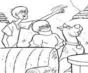 Sammy Vera et Scoubidou dans une piece dessin à colorier