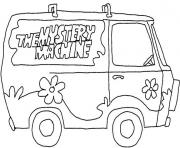 Van The Mystery Machine dessin à colorier