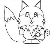 dessin de renard dessin à colorier