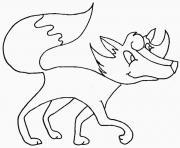 renard qui marche dessin à colorier