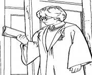 Harry potter avec un livre dessin à colorier