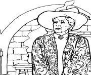 Minerva McGonagall est la directrice adjointe de Poudlard dessin à colorier