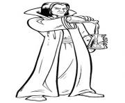 Coloriage Severus Rogue enseigne les potions