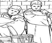 Vincent Crabbe et Gregory Goyle dessin à colorier