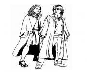 harry potter et le prince de sang mele dessin à colorier