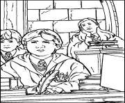 Classe de Poudlard dessin à colorier
