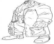 Hagrid dessin à colorier