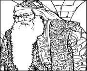 Albus Dumbledore dessin à colorier