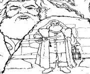 Rubeus Hagrid dessin à colorier