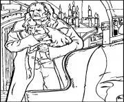 Argus Rusard et sa chatte Miss Teigne dessin à colorier