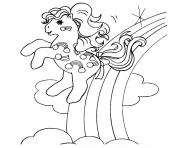 Coloriage petit poney volant