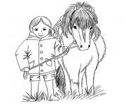 poney shetland dessin à colorier