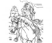Coloriage barbie poney