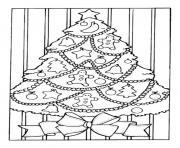 sapin de noel guirlandes dessin dessin à colorier