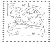 Coloriage pere noel decoration
