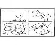 pere noel reine fenetre dessin à colorier