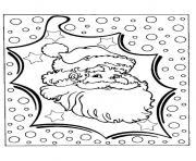 pere noel neige dessin à colorier