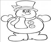 bonhomme de neige dessin à colorier